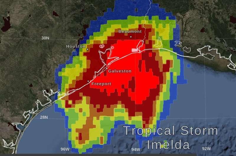 NASA estimates Tropical Depression Imelda's huge Texas rainfall