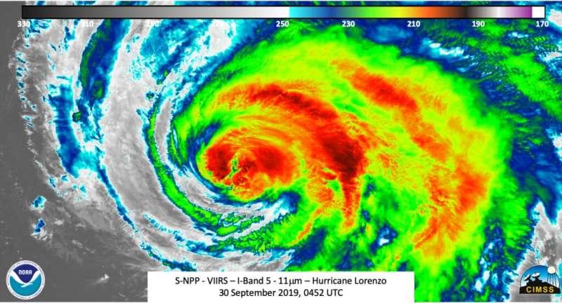 NASA-NOAA's Suomi NPP analyzes record-setting hurricane Lorenzo