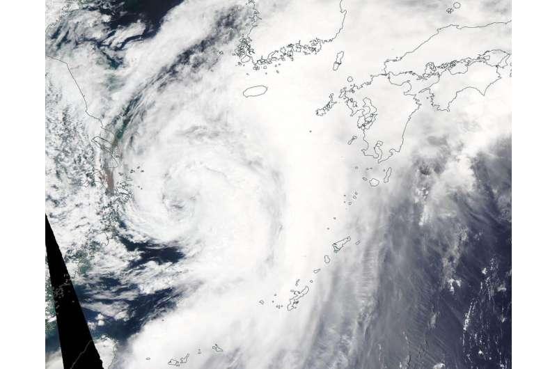 NASA sees Tropical Storm Danas track through the East China Sea