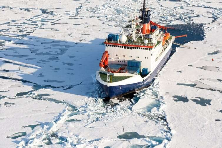 Scientists moor ship in Arctic ice for a year to better understand climate change