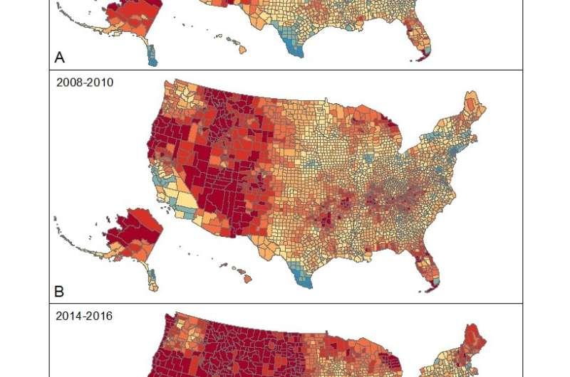 Suicide rates climbing, especially in rural America