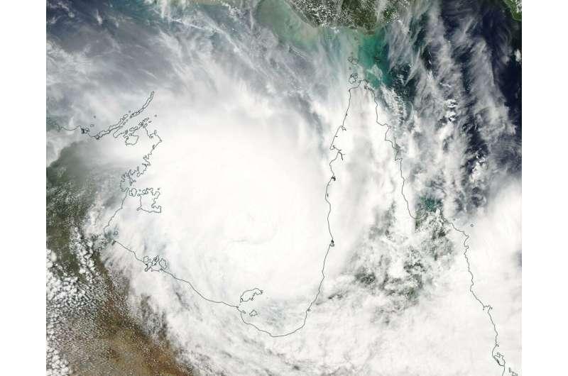 Tropical Cyclone Trevor fills Australia's Gulf of Carpentaria in NASA image