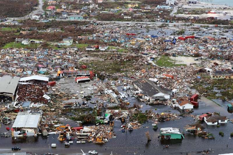 Hurricane Dorian left debris and destruction in its wake on Great Abaco island in the northern Bahamas