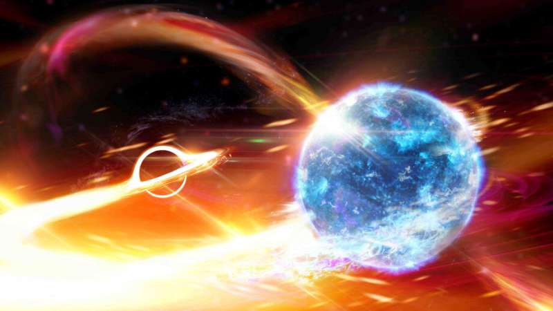 Scientists detect a black hole swallowing a neutron star
