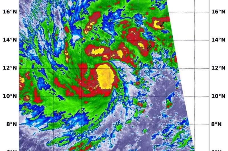 NASA-NOAA satellite finds tropical storm Kammuri strengthening