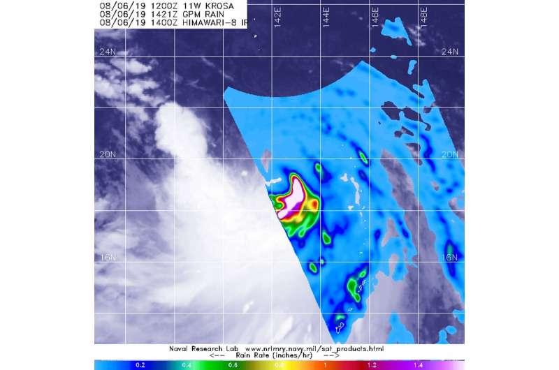 NASA finds heavy rain in new tropical storm Krosa