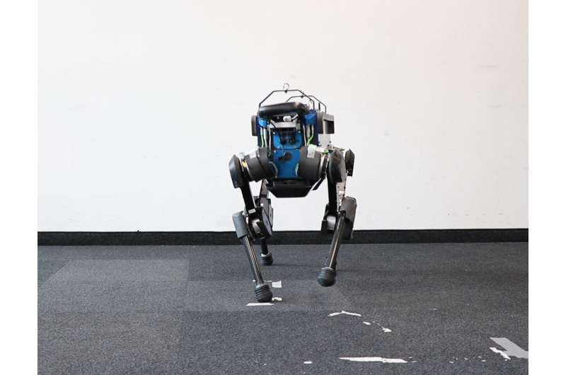 Using a machine learning technique to make a canine-like robot more agile and faster