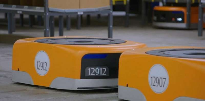 Amazon's  safety wearable is for human-robot workspace