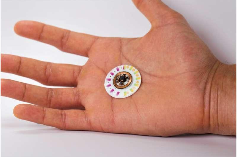 **Skin patch biomarker sensor doesn't need batteries