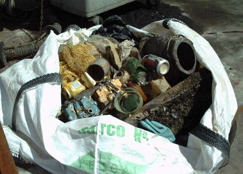 Radiography of marine litter in Spanish waters
