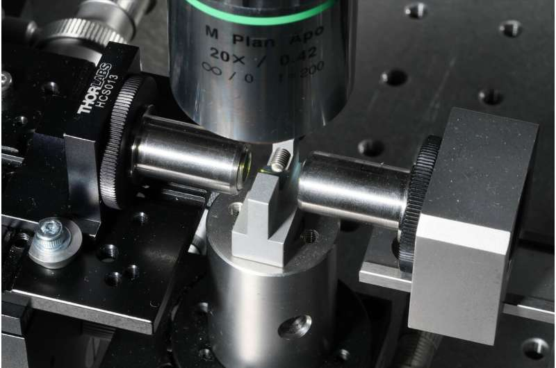 Detecting pollution with a compact laser source