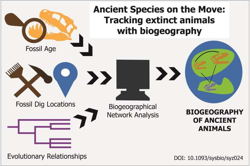 In hot pursuit of dinosaurs: Tracking extinct species on ancient Earth via biogeography