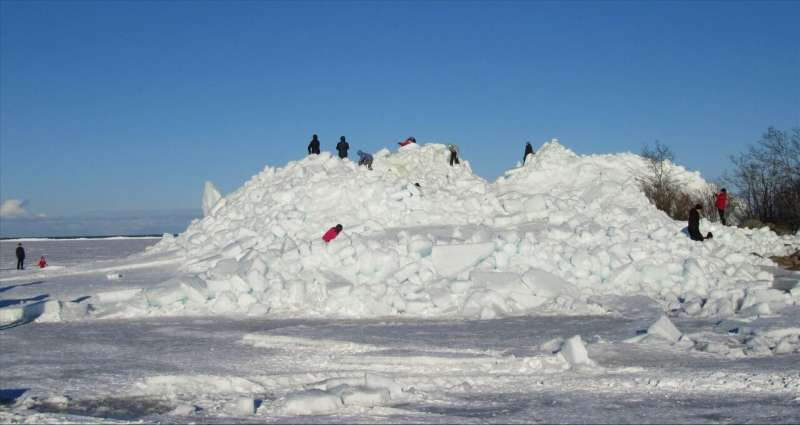 Estimating the wear and tear of ice on physical structures over coming decades or even centuries