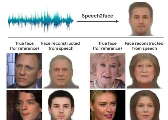 Connecting the dots between voice and a human face