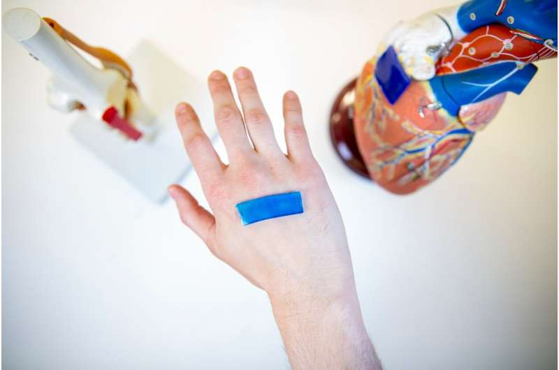 Bioinspired wound dressing contracts in response to body heat to speed healing