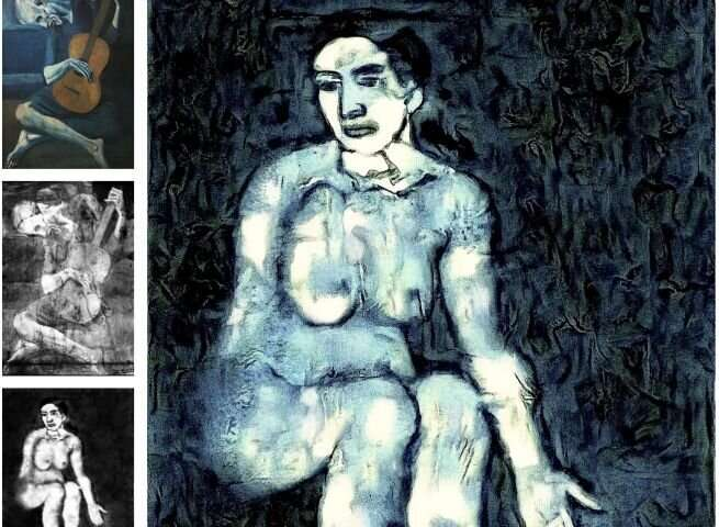 Neural style transfer reconstructs unseen Picasso painting