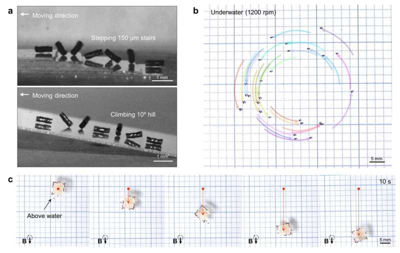 Multiple helical magnetic soft robots toward collective behaviors
