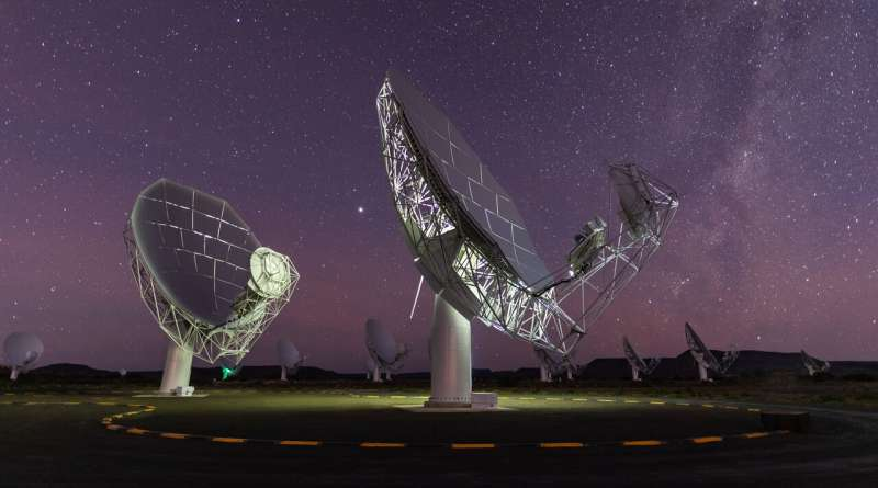 Caught in the act: MeerKAT telescope spies stellar flare