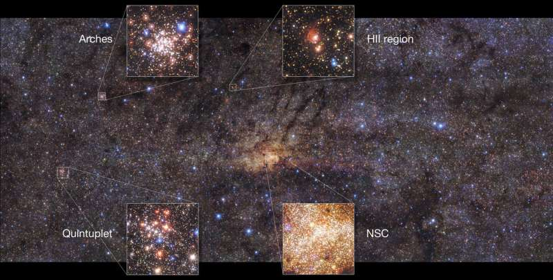 Very Large Telescope images stunning central region of Milky Way, finds ancient star burst
