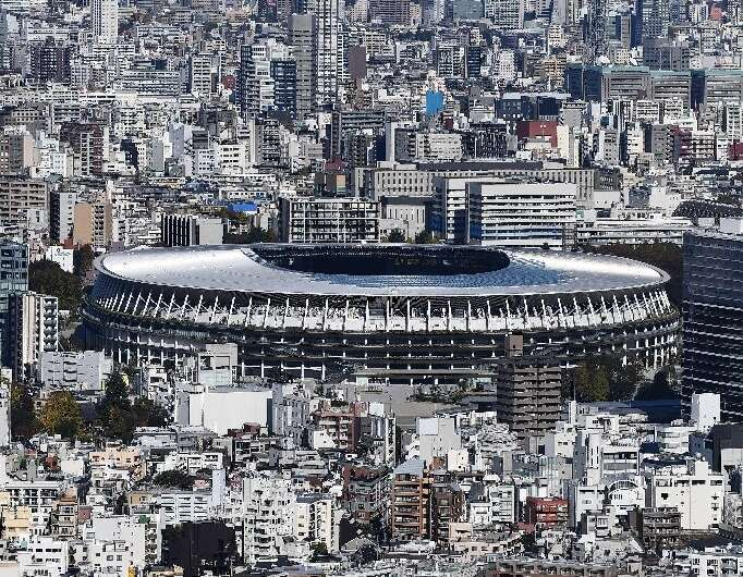 Construction of the $1.4 billion main Tokyo Olympic venue has officially completed