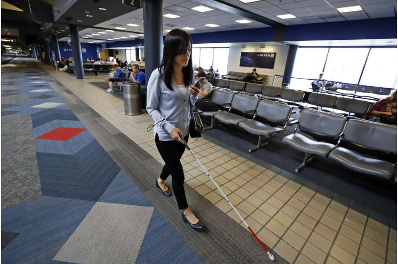 Flying blind: Apps help visually impaired navigate airport