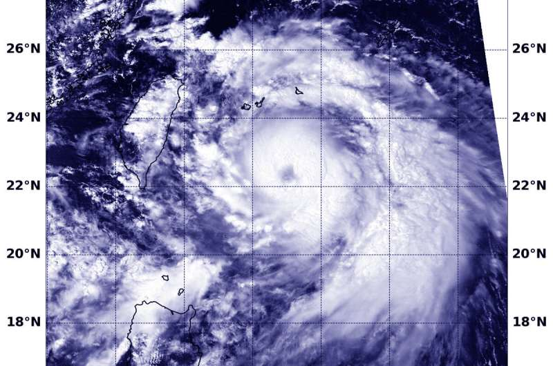 NASA catches the eye of Typhoon Lingling