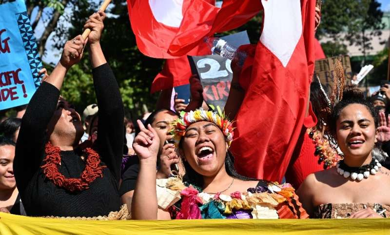 Pacific Islanders marched in Sydney in one of the first protests in a global day of action on climate change