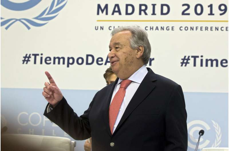 UN chief warns of 'point of no return' on climate change