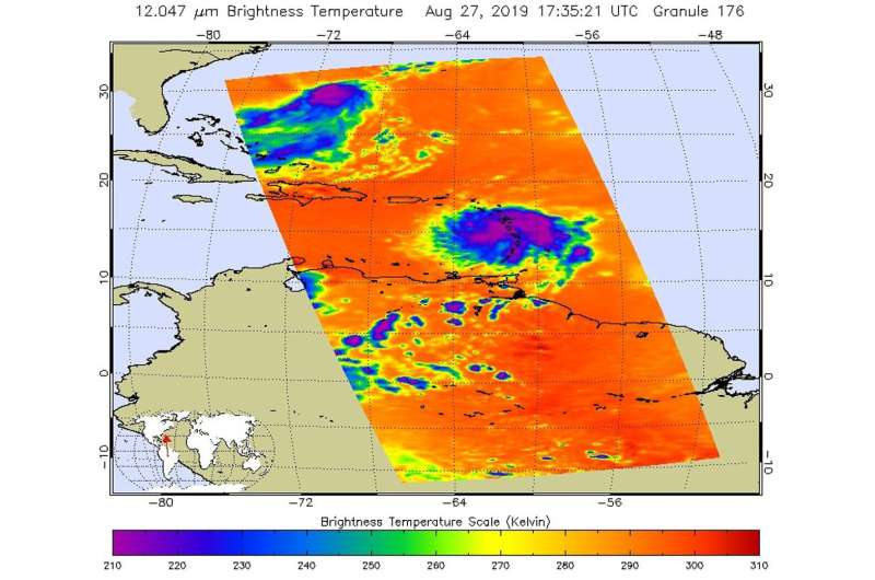 NASA finds heavy rain potential in tropical storm Dorian