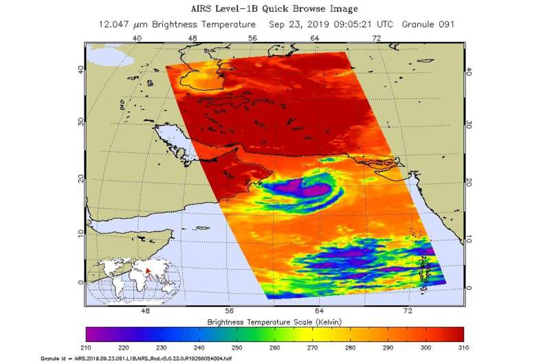NASA finds heavy rain potential in Tropical Storm Hikaa