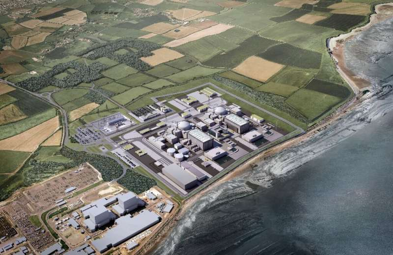 A 2016 EDF Energy handout image shows a computer generated image of the Hinkley site—which has been dogged by delays and cost hi