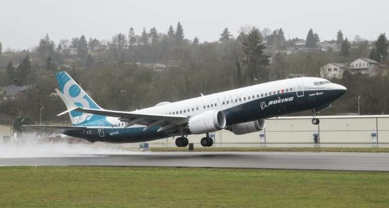 A Boeing 737 MAX 8 is seen here taking off for a test flight on January 29, 2016 in Renton, Washington—the plane entered commerc