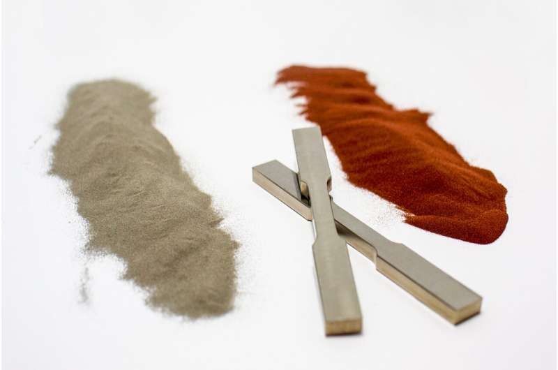 Adding copper strengthens 3D-printed titanium
