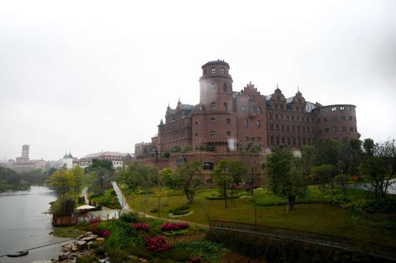 A European-style castle replica is part of Huawei's campus in Dongguan, Guangdong province