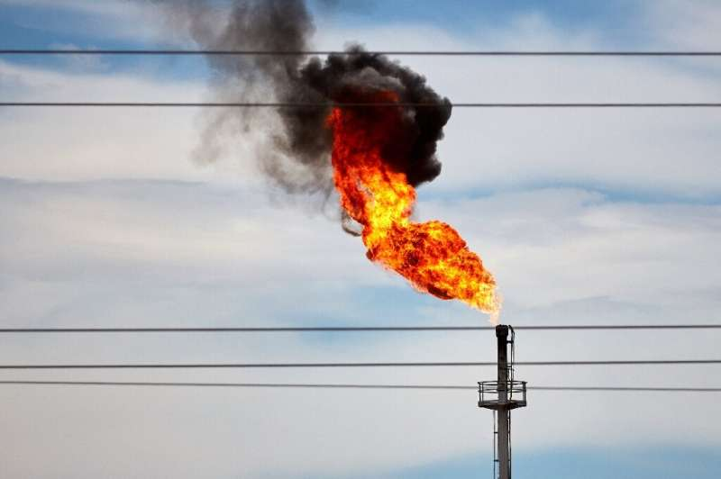 A gas flare in the Vaca Muerta field which covers a huge sweep of western Patagonian wilderness and sits on the world's second l