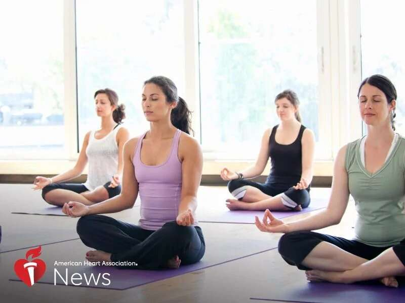 AHA news: is yoga heart-healthy? it's no stretch to see benefits, science suggests