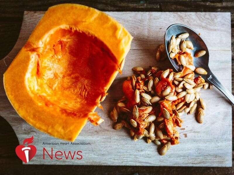 AHA news: pumpkin pulp, seeds lower blood pressure in rat study