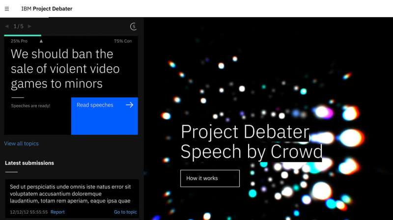 AI debate machine argues with itself at Cambridge Union