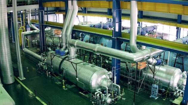 Alert system for failing nuclear plant pipesuses thin films and sound vibrations