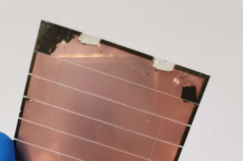 All-perovskite tandem solar cells with 24.8% efficiency