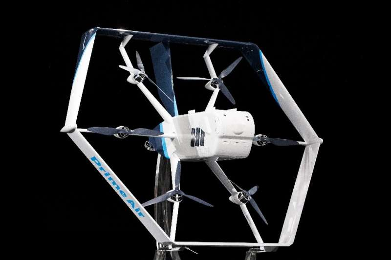 """Amazon recently showed a drone design for its """"Prime Air"""" fleet and expects to begin large-scale deliveries by drone i"""