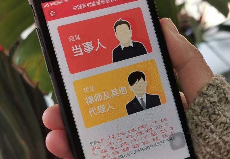 A 'mobile court' offered on popular Chinese social media platform WeChat has handled more than three million legal cases or othe