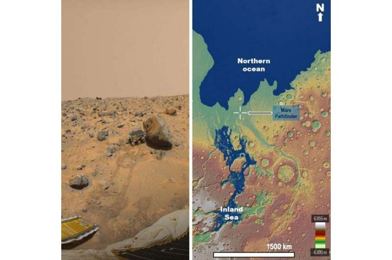 A NASA spacecraft may have explored the edges of an early Mars sea in 1997