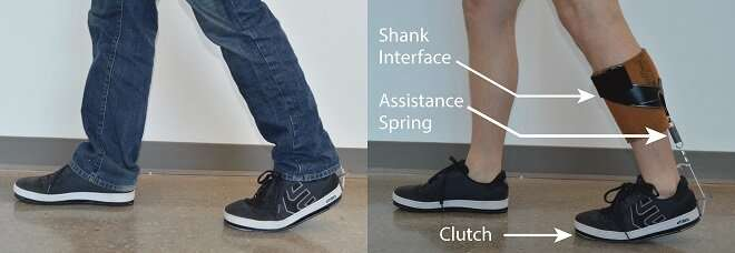 Ankle exoskeleton fits under clothes for potential broad adoption