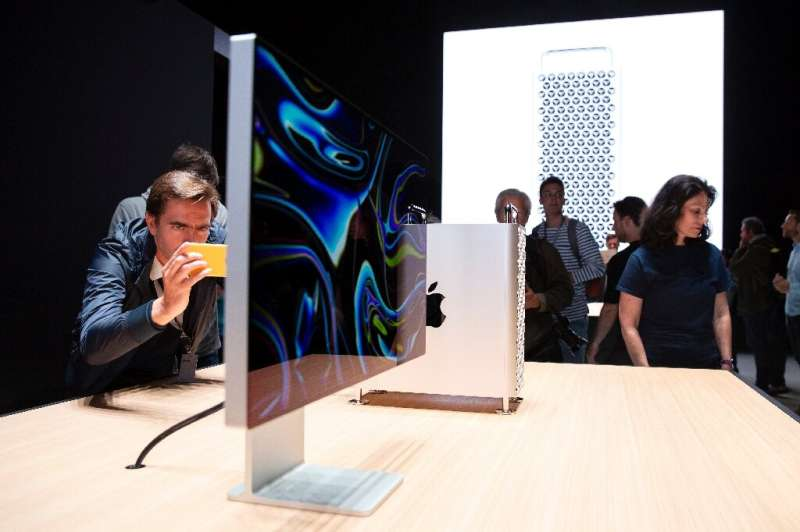 Apple unveiled a new Mac Pro high-performance desktop computer aimed at professionals, with a starting price of $5,999.