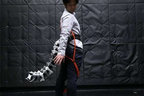 Arque is a seahorse-inspired artificial tail