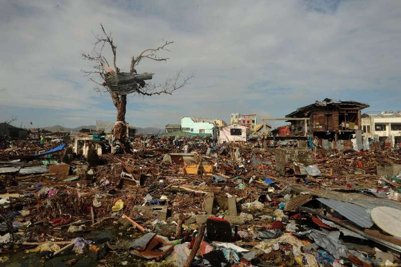 A storm surge was to blame for many of the 7,350 deaths in 2013's Super Typhoon Haiyan, which saw a wall of water estimated to b