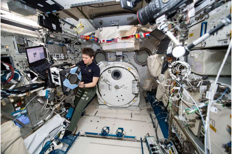 Astrobee's first robot completes initial hardware checks in space
