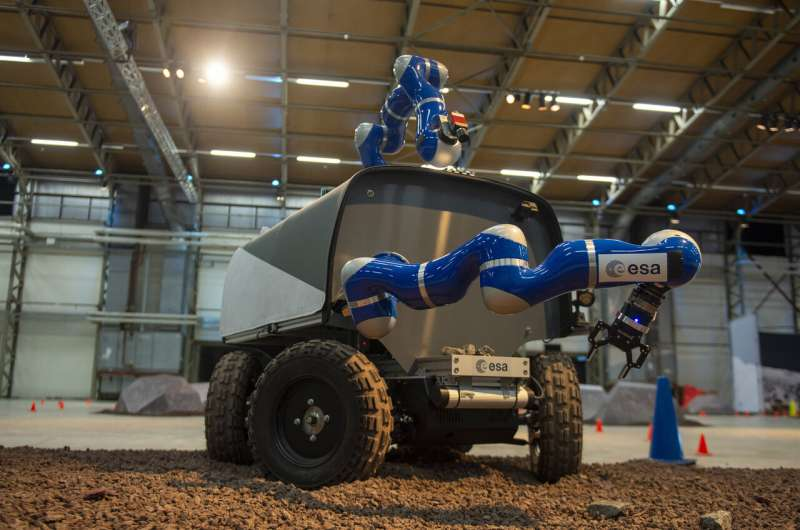 Astronaut Luca feeling the force, to advance rover control