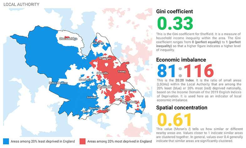 Atlas of inequality challenges assumptions of rich and poor areas